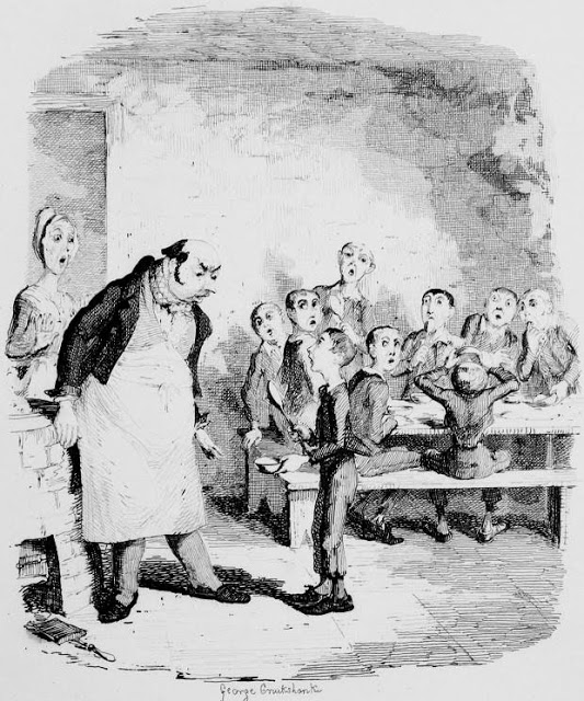 "Cruikshank. ""Please, Sir, I want some more..."" de Oliver Twist, 1837-39"