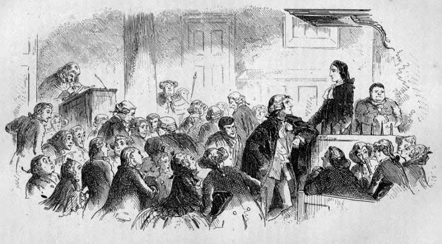 Historia de dos ciudades. The likeness 1859