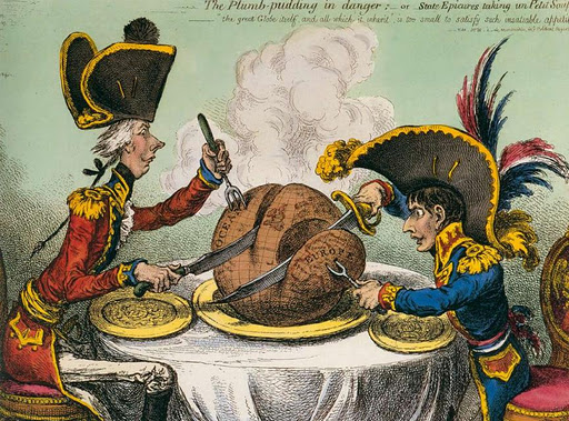 James Gillray. The Plum-Pudding, 1805