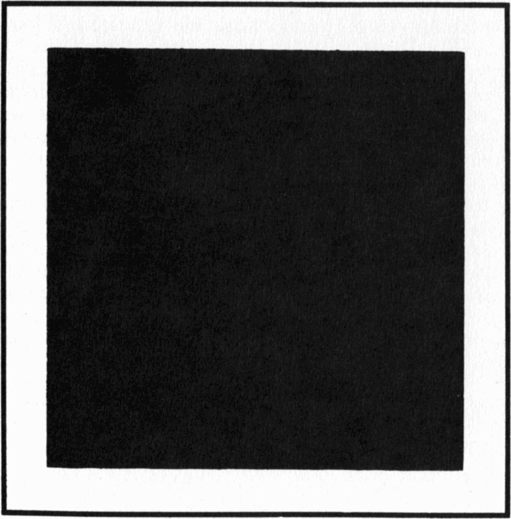 Malewich. Cuadrado negro sobre fondo blanco. 1913