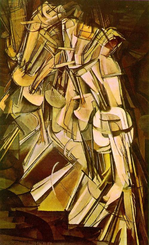 Duchamp, Desnudo bajando una escalera, 1912