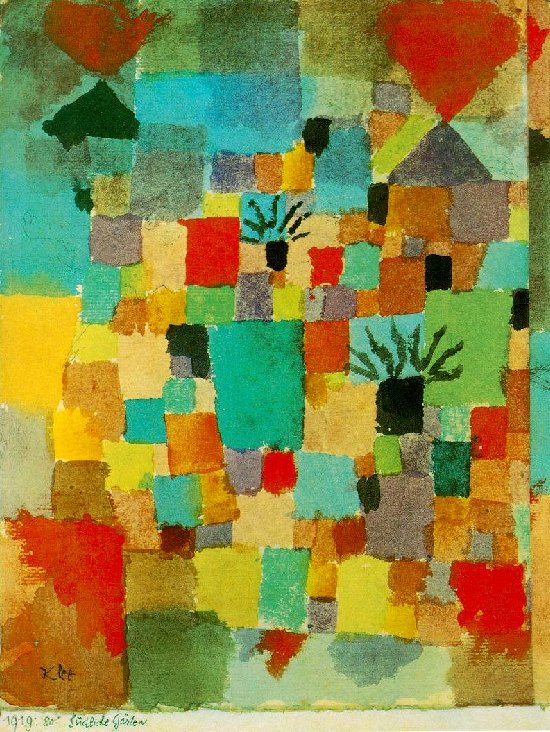 Klee, Jardines sureños, 1919