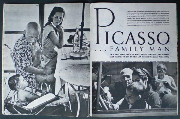 Reportaje de Capa en casa de Picasso, publicado en 1950.