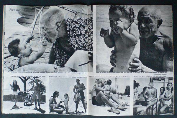 Reportaje de Robert Capa sobre Picasso, publicado en 1950.