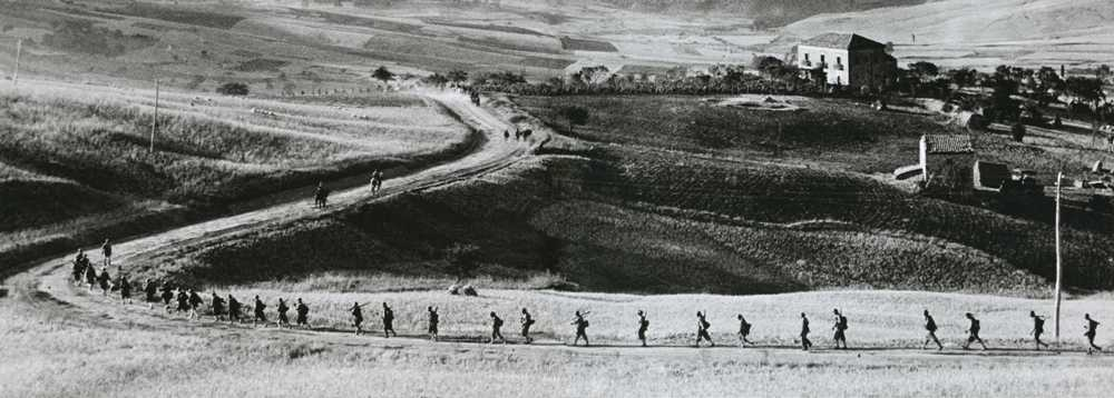 Tropas americanas en Sicilia, 1943.