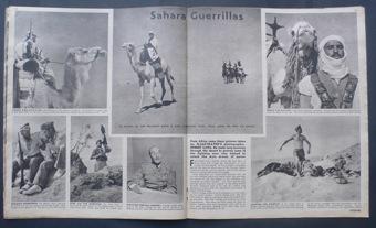 Tropas francesas en el Sáhara, trabajo de Capa para Ilustrated Magazine.