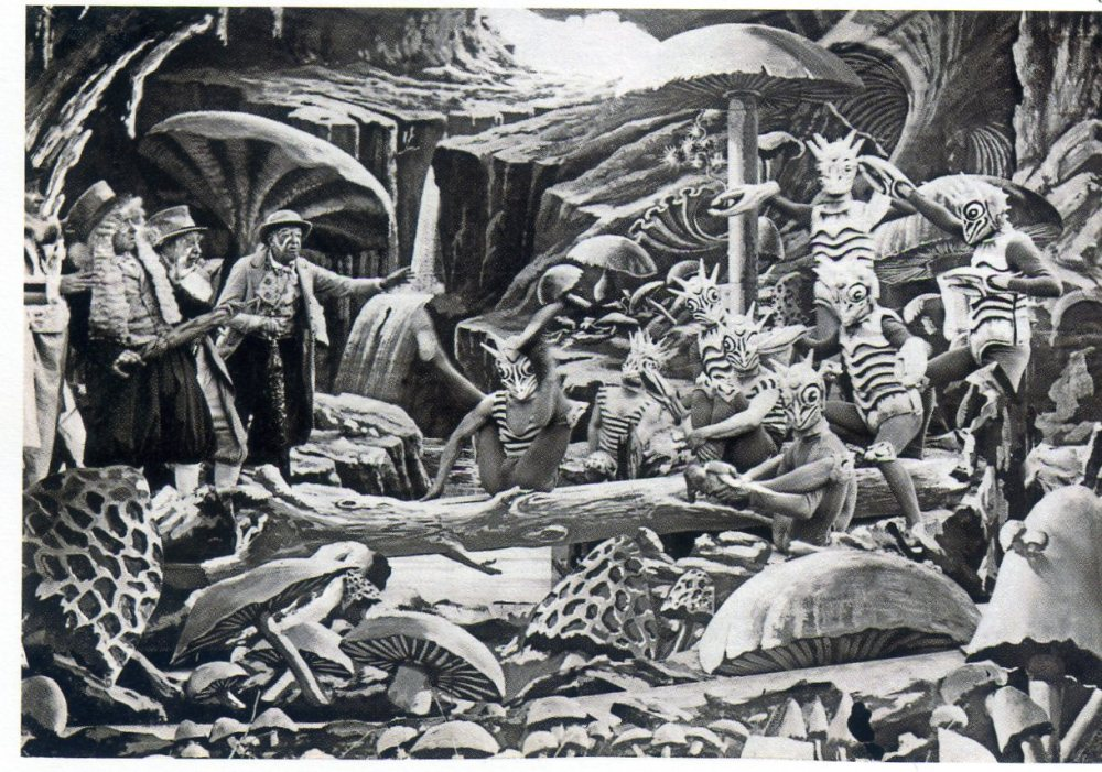 Escena de los selenitas en Viaje a la Luna (1902)