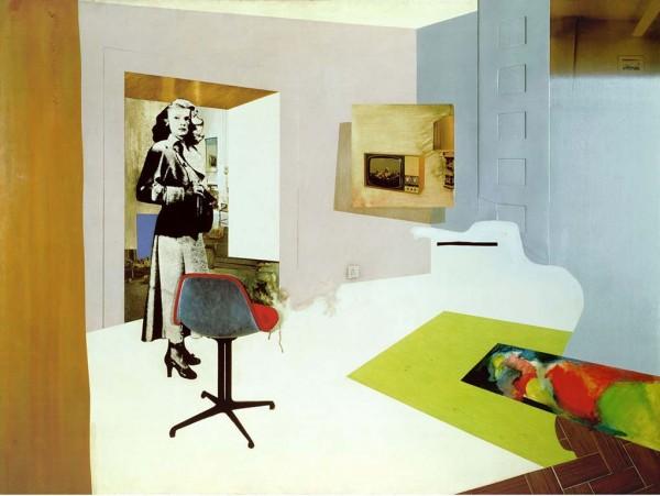 Interior II, 1964, óleo, celulosa, collage y relieve de metal sobre tabla